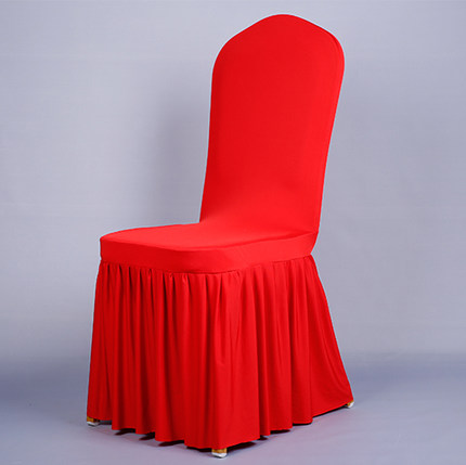 The sun skirt Elasticity Chair set Hotel Restaurant Chair set The marriage celebrates Bowknot Party Chair Covers ...