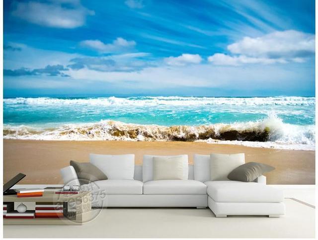 3d Wallpaper European Minimalist Bedroom Living Room Tv Backdrop Blue