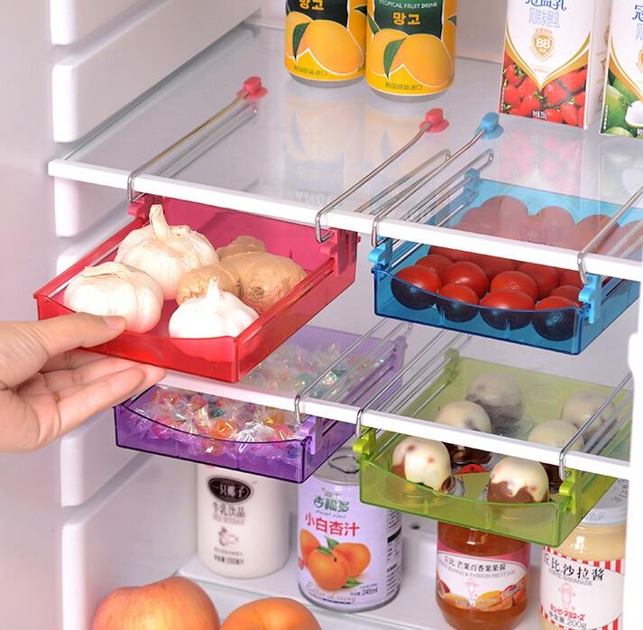 2 قطع البلاستيك علبة الغذاء الثلاجة رف - التنظيم والتخزين في المنزل