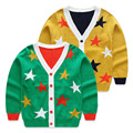 Child sweater 2017 autumn child knitted sweater star baby girls boys cardigans sweaters v-neck cotton casual top 7e-3