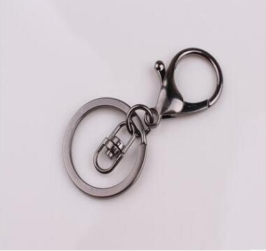 5pcs Gold Rose gold Gunblack Round Keyring Metal Split Key Chains Key Rings With Lobster Clasp DIY Accessories Findings in Key Chains from Jewelry Accessories