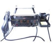 Gordak 863 3 в 1 Цифровой Воздушный Термофен BGA пневматический пистолет станция + Электрический паяльник + ИК Инфракрасный Предварительный Подогрев Станции