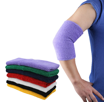 (1 pair) long cotton warm Sweat absorbent basketball tennis Elbow pads Bracer cuff support protector protect band belt