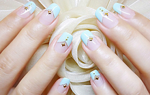 Hot Sale French Art Decal Tips Round Form Fringe Guides Nail massage