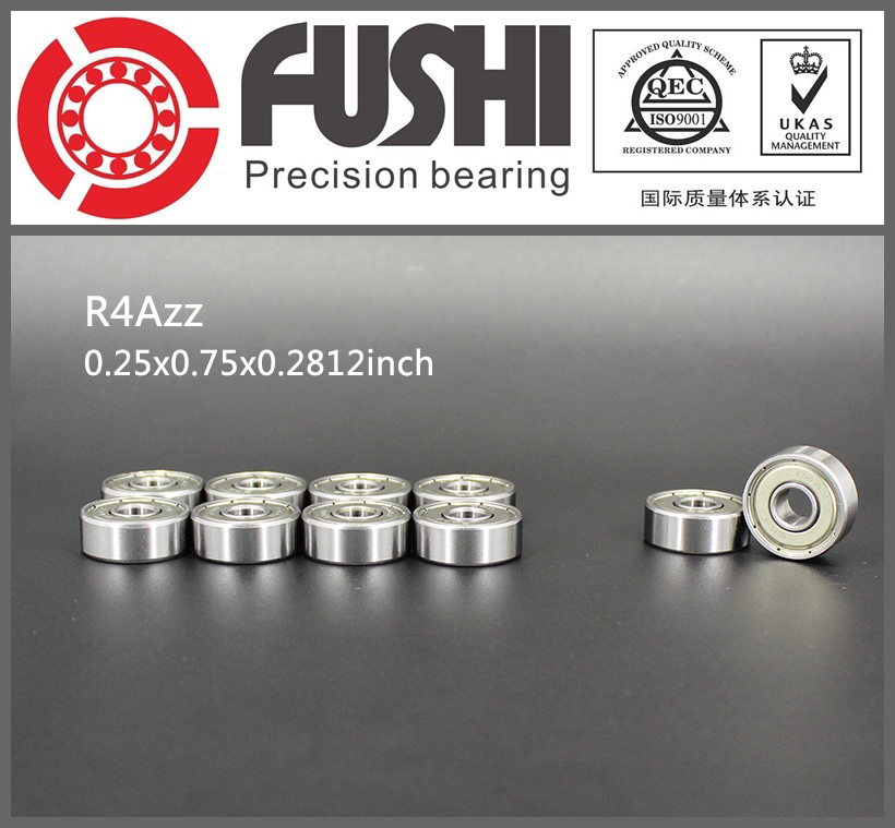 R4AZZ Bearing ABEC-1 (10PCS) 1/4x3/4x9/32 inch Miniature R4A ZZ Ball Bearings For RC Model Parts gcr15 6326 zz or 6326 2rs 130x280x58mm high precision deep groove ball bearings abec 1 p0