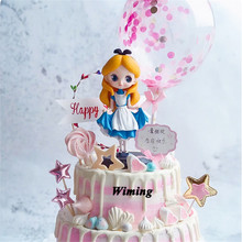 princess alice cake topper girl birthday supplies toys for girls baby kids children sweet gift cupcake decorations