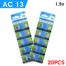 20pcs AG13 +Lowest Price+1.5VBattery LR44 L1154 RW82 RW42 SR1154 SP76 A76 357A ag13 SR44 AG 13 Lithium Cell Coin Battery