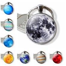 Модные аксессуары брелок для ключей со звездой планетой луной