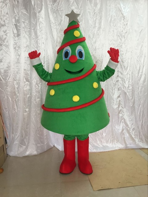 עץ חג המולד קמע תלבושות מסיבת יום הולדת שמלת ליל כל הקדושים למבוגרים קמע תלבושות mascotte מכירה לוהטת