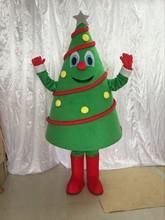 Árvore de natal mascote traje festa de aniversário vestido halloween adulto mascote traje mascote venda quente