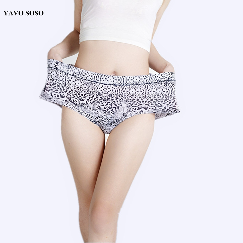 3Pcs/lot High Quality Sexy Leopard Lingeries Briefs Women Underwear plus size 5XL Big size Womens Panties