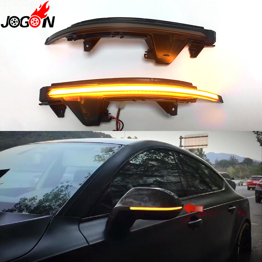 For AUDI A7 S7 RS7 4G8 2010 - 2017 Car Side Wing Rearview Mirror Blinker Indicator LED Dynamic Turn Signal Light Replacement