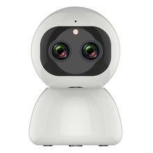 Câmera panorâmica de 12mp 1080p ptz ip, lente dupla sem fio zoom de 8x rotação de 360 graus