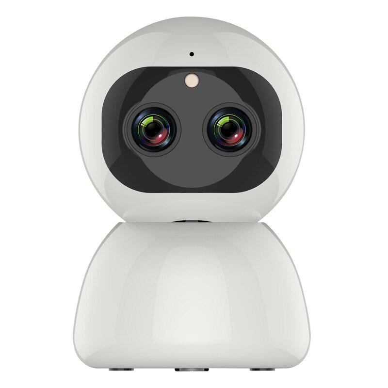 12MP 1080P lente Dual inalámbrica cámara IP PTZ 8X Zoom de rotación de 360 grados cámara panorámica