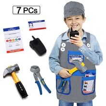 Train Engineer Costume Kids Role Play Fancy Dress Accessories Set for 3-8 YearOld Toddlers Boys Girl
