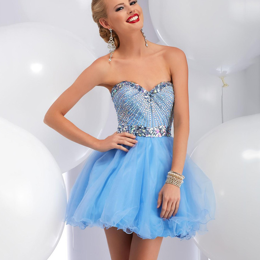 Popular Baby Blue Short Prom Dress-Buy Cheap Baby Blue Short Prom ...