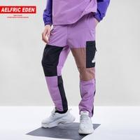 Aelfric Eden 2018 Hip Hop Mens Vintage Color Block Sweatpants Patchwork Casual Trousers Harem Joggers Tatical Cargo Pants TX24