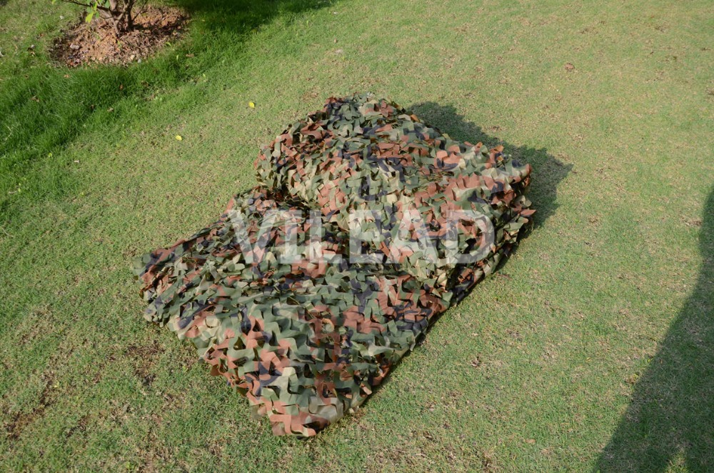 VILEAD 4M x 8M (13FT x 26FT) Woodland Military Camouflage Netting Army Camo Net Theme Party Decoration Hunting Gazebo Netting vilead 9 colors 2 5m 8m forest camouflage net camo net invisible camo net army covert net for snipers party theme decoration