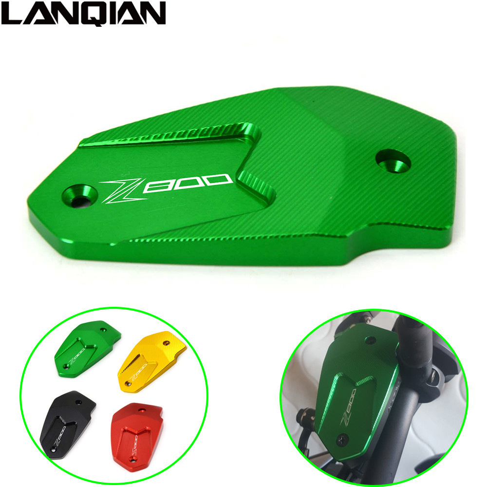 Hot Motorcycle CNC Brake Fluid Reservoir Cap cover For Kawasaki Z800 Z 800 2013 2014 2015 2016 ER6N ER6F VERSYS 650 ninja 650 universal motorcycle brake fluid reservoir clutch tank oil fluid cup for mt 09 grips yamaha fz1 kawasaki z1000 honda steed bone