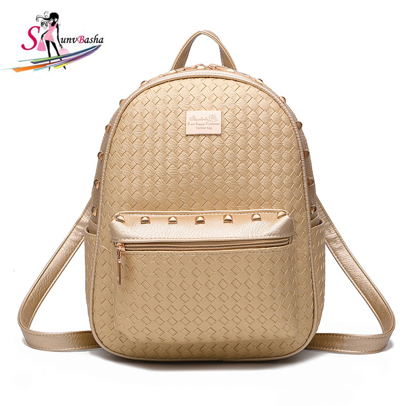 2017 New Designer Women Backpack For Teens Girls Preppy Style School Bagl PU Leather Travel Ladies