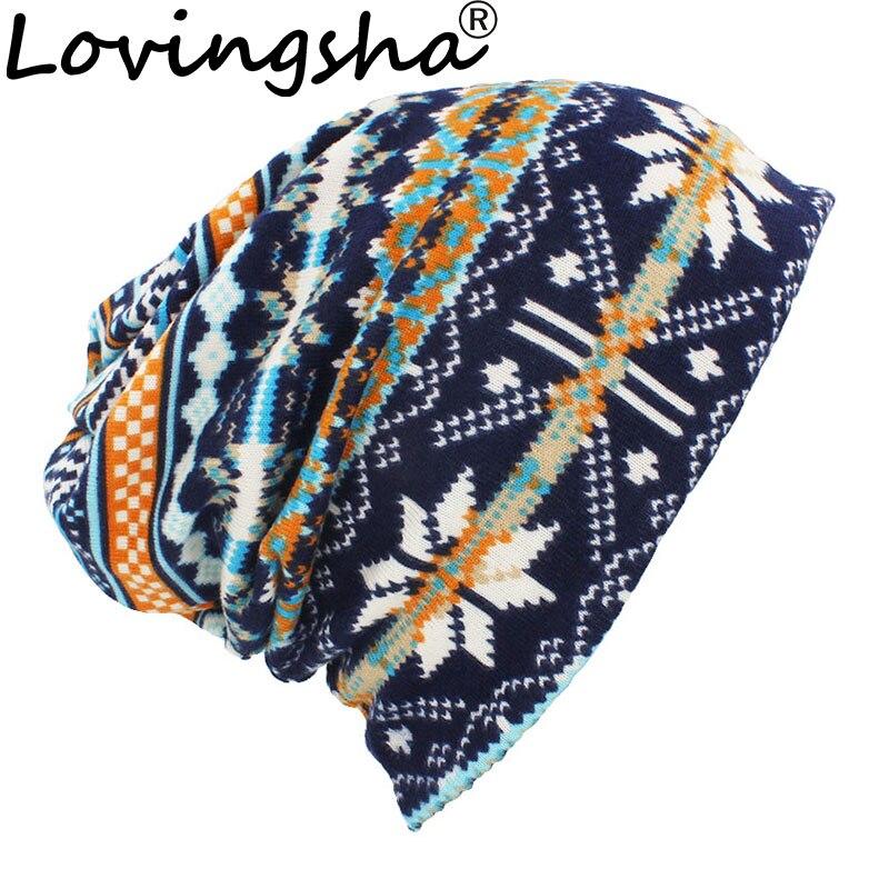 LOVINGSHA Autumn Winter Classical Design Hats For Men Thin Hat Multifunction Women Skullies Beanies Fashion Feminino Scarf HT113