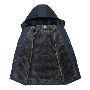Image 3 - Dropshipping 2020 Hot Fashion Hooded Winter Jas Mannen Dikke Warme Heren Winter Jas Winddicht Vader Gift Parka