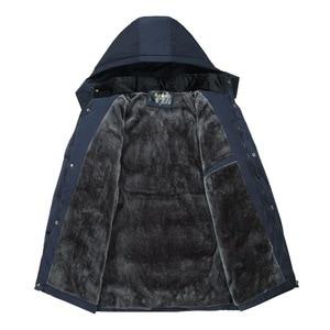 Image 3 - Dropshipping 2020 חמה אופנה סלעית חורף מעיל גברים עבה חם Mens חורף מעיל Windproof אב מתנה Parka