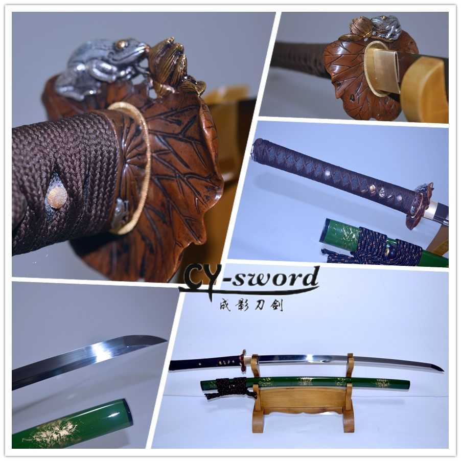 PRACTICAL FORGED MUSASHI ODA LOTUS SAMURAI KATANA SWORD