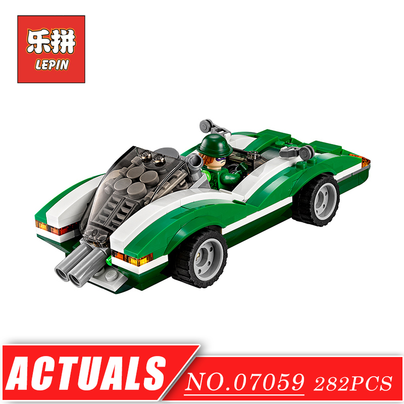 Movie Super Series Hero Batman The Riddler Riddle Racer set LEPIN 07059 Model & Building Blocks Bricks DIY Children Toys Gift gonlei new 610pcs 10634 batman movie the batmobile building blocks set diy bricks toys gift for children compatible lepin 70905