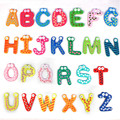 Hot sale Colorful Cute 26 Letters Wooden Cartoon Fridge Magnet kid's Baby Educational Toy Levert Dropship Aug6