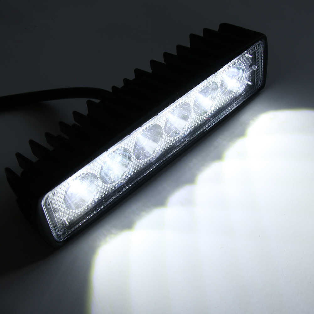 1 قطعة 18 واط 800LM 6 LED بقعة ضوء مشرق العمل بار القيادة الضباب مصباح سيارة الطرق الوعرة الأضواء الخارجية اكسسوارات السيارات لشاحنة