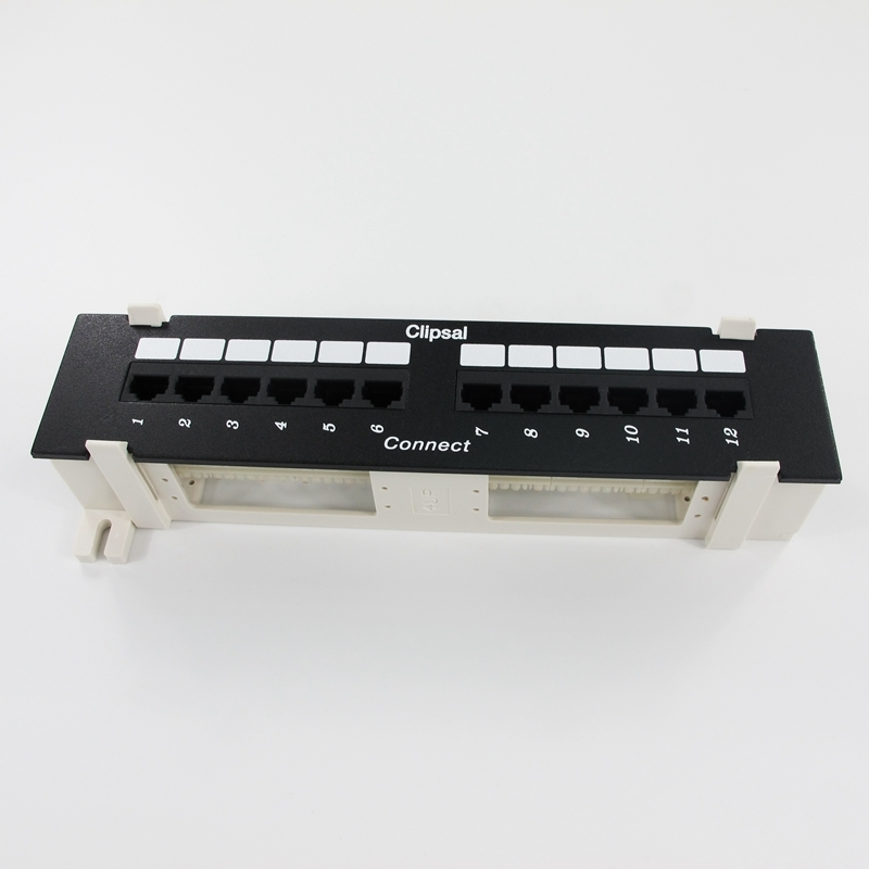 все цены на Brand 19''1U UTP 12-port CAT5e Patch Panel Wall Rack-mount Network Distribution Frame RJ45 Cable Adapter Modular Keystone Jack онлайн