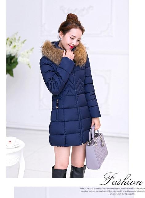 2016 Spring & Winter Women Qiyun.z  Outerwear Cotton Jacket With Large Fur Collar Plus Size M - XXXXXXL Thickening Long Coat