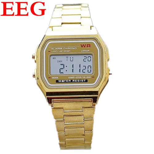 Cool Womens Gold Silver Steel Roman Digital Wristwatch Women Dress Watches