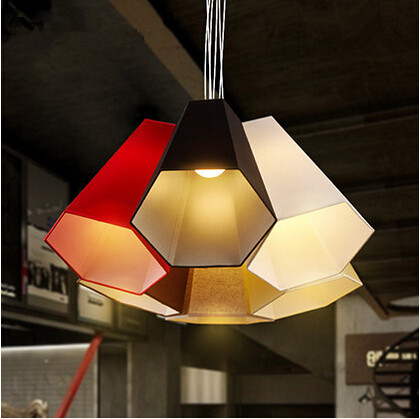 ФОТО Colorful Modern LED Pendant Light Free Combination Hanging Lamp Fixtures For Cafe Bar Living Home Lightings Lamparas Colgantes