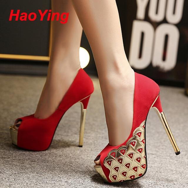 28a4c98e91 Partido vestido sapatos para mulheres sola vermelha de salto alto mulheres  sapatos bombas sapatos femininos sapatos