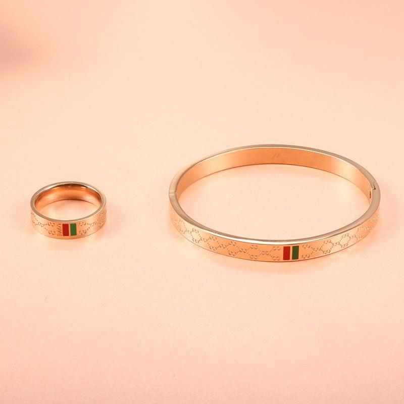 11 (3) - Brassard Breloque, Bracelet Pour Femmes, Acier Inoxydable Plaqué Or 4mm 6mm 8mm,