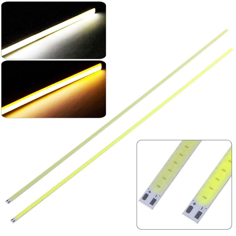LED Light Strip 400x6mm 12V 120 LED Super Bright Hard COB Strip Light For Car Lamp DIY For Project And Home Decoration NEW