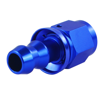 6 AN Straight Push On Lock Socket-less Hose End Fitting 1