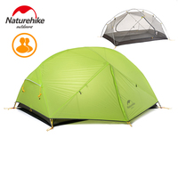 Naturehike 3 Season Camping Tent 20D Nylon Fabic Double Layer Waterproof Tent For 2 Persons Travel