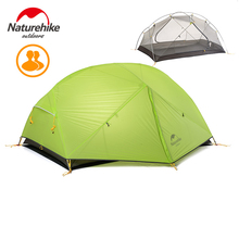 Naturehike 3 Season Camping Tent 20D Nylon fabric Double Layer Waterproof Tent for 2 Persons travel hiking Tent