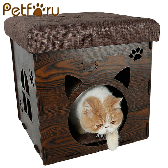 Petforu Creative 2 In 1 Diy Pet Cat House Collapsible Puppy Dog