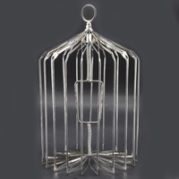 1pcs Appearing Bird Cage Silver Small Size Stage Magic Tricks Magic Prop Magician Gimmick