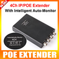 4CH IP POE Coaxial Converter Extender Long Transmission Distance Power Coax,Range Up to 2500M,Network Max Baud Rate Up to100MBPS