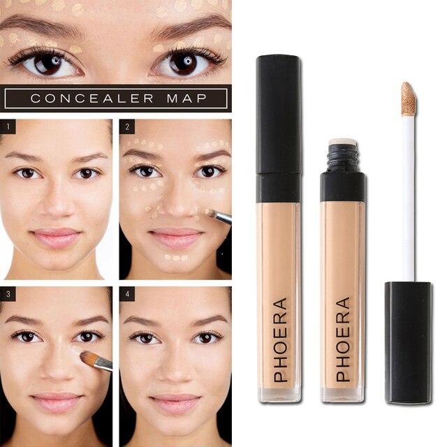 PHOERA cicatrices de acné cubierta suave corrector crema 10 colores cara ojos Fundación maquillaje duradera cubierta cosmética TSLM2
