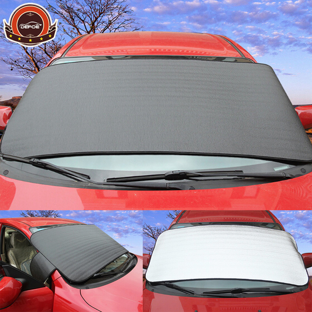 Dual-use Snow Cover Car Sun Shade Window Foils Windshield sun cover car Block Front Window Sunshade Thicken freeshipping