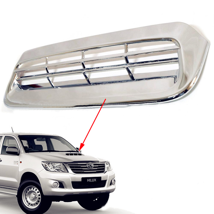 buy toyota hilux chrome parts abs car styling hilux accessories small hood. Black Bedroom Furniture Sets. Home Design Ideas
