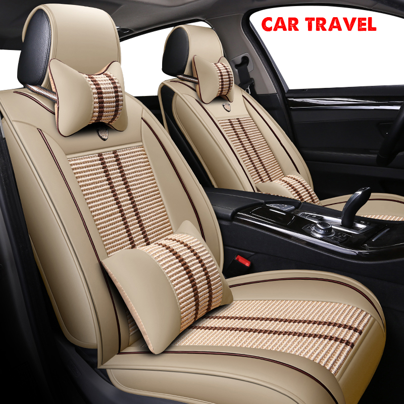 CAR TRAVEL ice silk Car Seat Covers for Hyundai all models solaris creta i30 getz accent ix35 i20 i40 Elantra Genesis ix25 auto стоимость