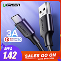 Tipo C Cabo Ugreen USB para Xiaomi Redmi Nota 7 mi9 USB C Fio de Cabo para Samsung S9 Carregamento Rápido USB-C Cabo Taxa de Telefone Móvel