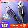Ugreen USB tipo C para Xiaomi Redmi Note 7 mi9 USB-C Cable para Samsung S9 rápido de carga de Cable USB-C cable de carga para teléfono móvil